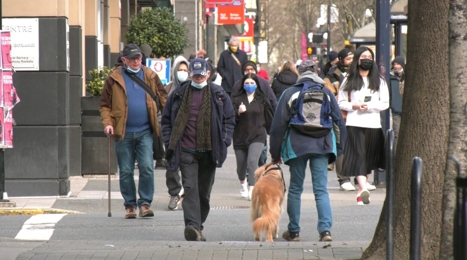 Victoria pedestrians