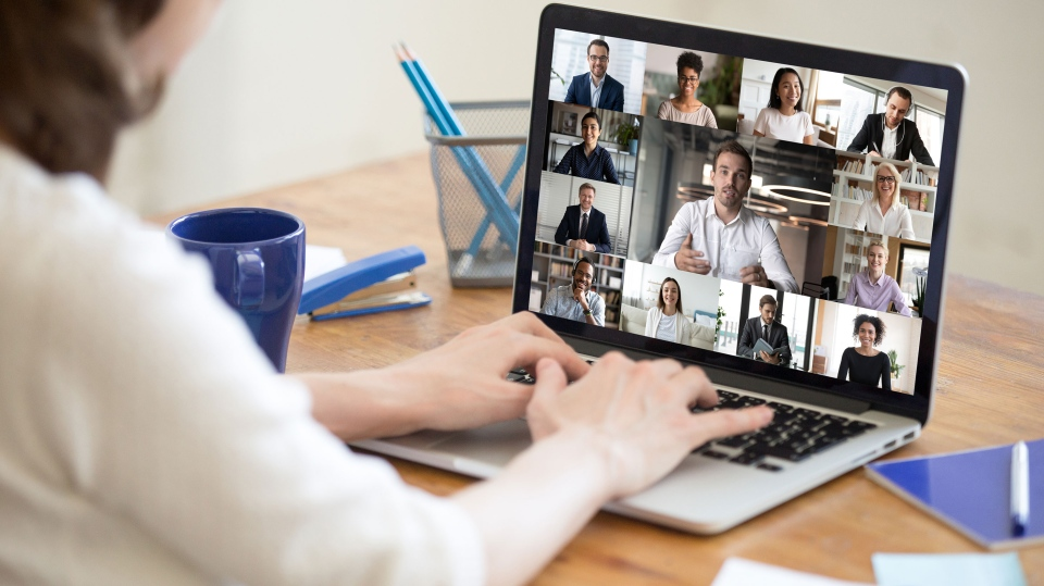 People are staring at themselves a lot during video calls. (Shutterstock / CNN)