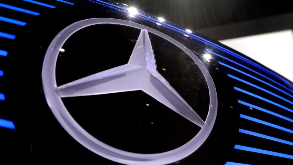 Mercedes logo in Stuttgart, Germany