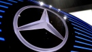 FILE - In this Feb. 2, 2017 file photo the logo of Mercedes is photographed in Stuttgart, Germany. (Matthias Schrader / AP)