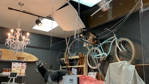 Damage at a Waterloo cheese store