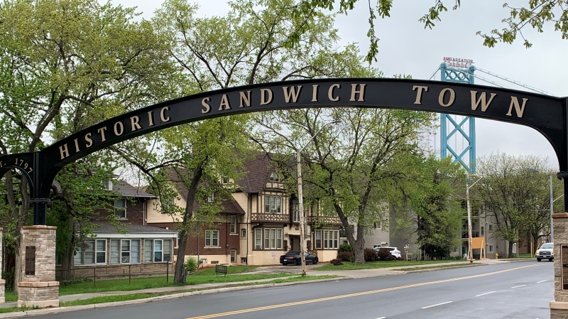 Sandwich Street in Windsor, Ont on Thursday, April 29, 2021. (Chris Campbell/CTV Windsor)