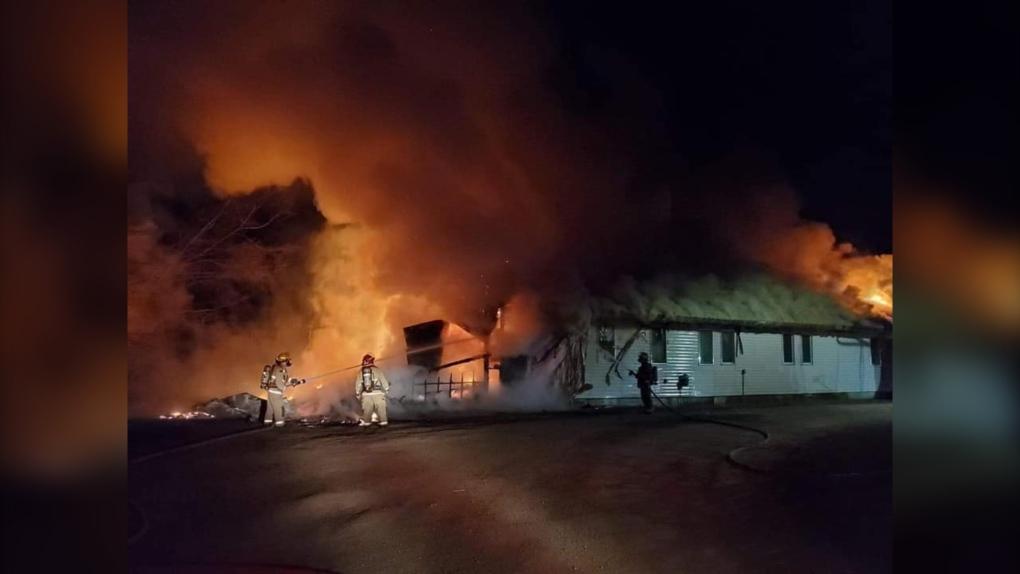 Community centre fire