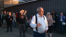 MPP Randy Hillier at an anti-mask rally in Kemptville on April 8, 2021. He is among four people who attended the rally charged under the Reopening Ontario Act.