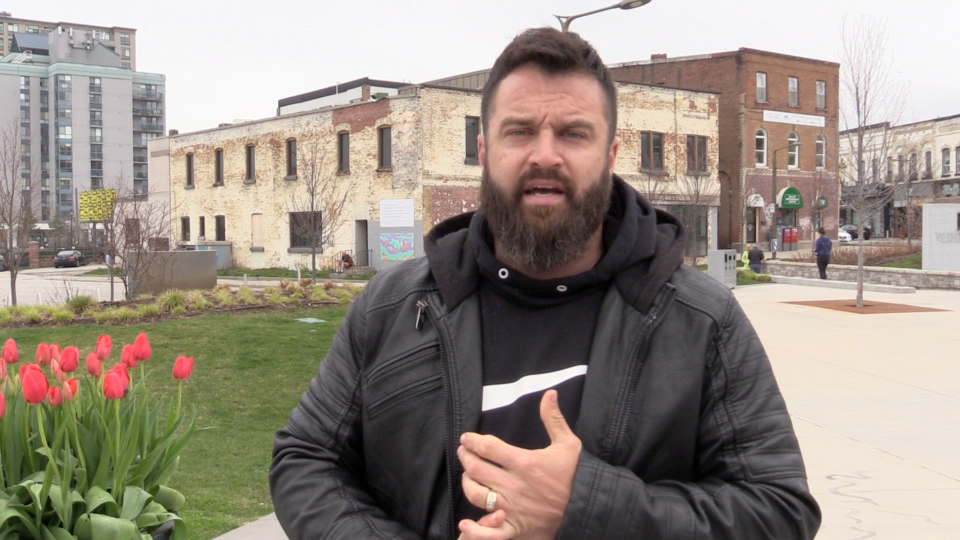 Barrie Freedom Rally organizer Tyler Nicholson says the anti-lockdown protest will go ahead despite the city's attempts to stop it. Thurs. April. 29, 2021 (Mike Arsalides/CTV News)