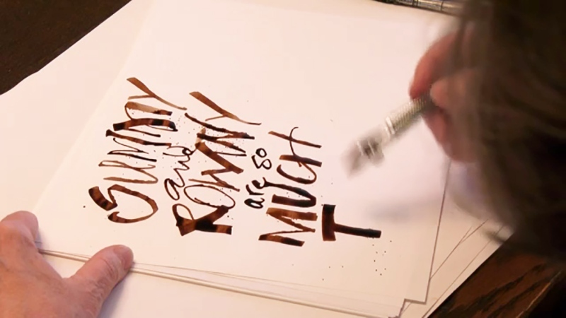 Calligraphy is making a comeback in the pandemic. Kevin Fleming reports.