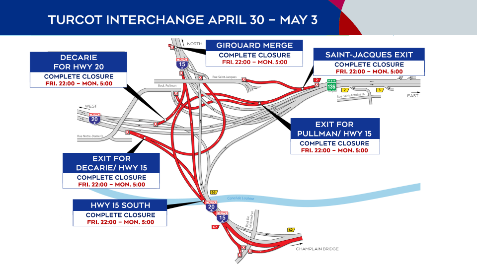 Turcot Interchange April 30 to May 3