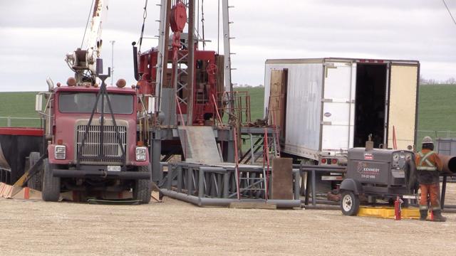Borehole drilling in South Bruce, Ont. on April 30, 2021. (Scott Miller/CTV London)