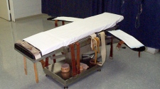 This 2004 file photo from the Virginia Department of Corrections shows the execution gurney at the Greensville Correctional Center's death row in Jarratt, Va. Convicted sniper John Allen Muhammad is scheduled to be executed Tuesday evening, Nov. 10, 2009. (AP / Virginia Department of Corrections)