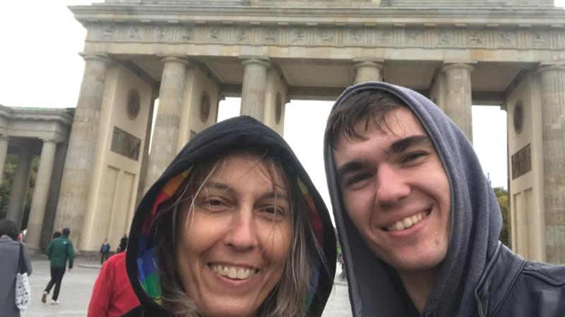Jukka Schotter and his mother Gabi (Supplied)