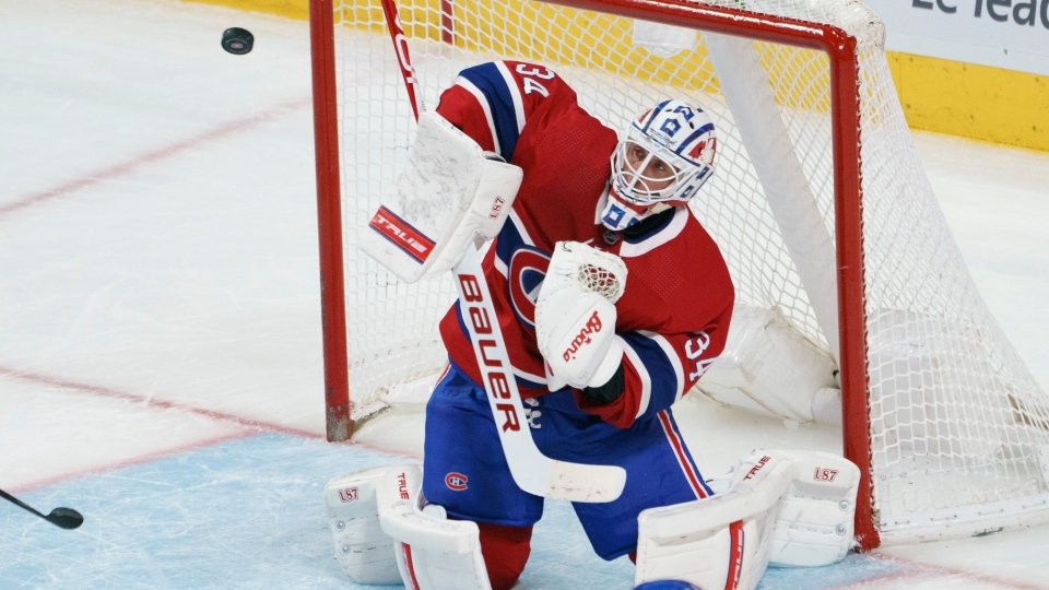 Montreal Canadiens goaltender Jake Allen