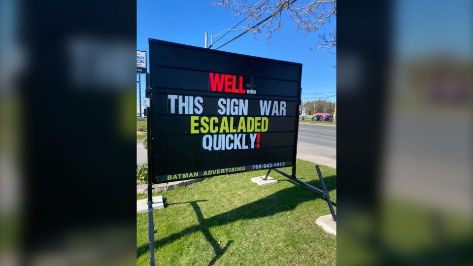 Coccimiglio's sign war
