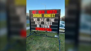 Over fifty businesses in Sault Ste. Marie have taken to Coccimiglio's sign war, each trying to raise the bar. April 30/21 (2021 Sign Wars SSM, Ontario - Facebook group)