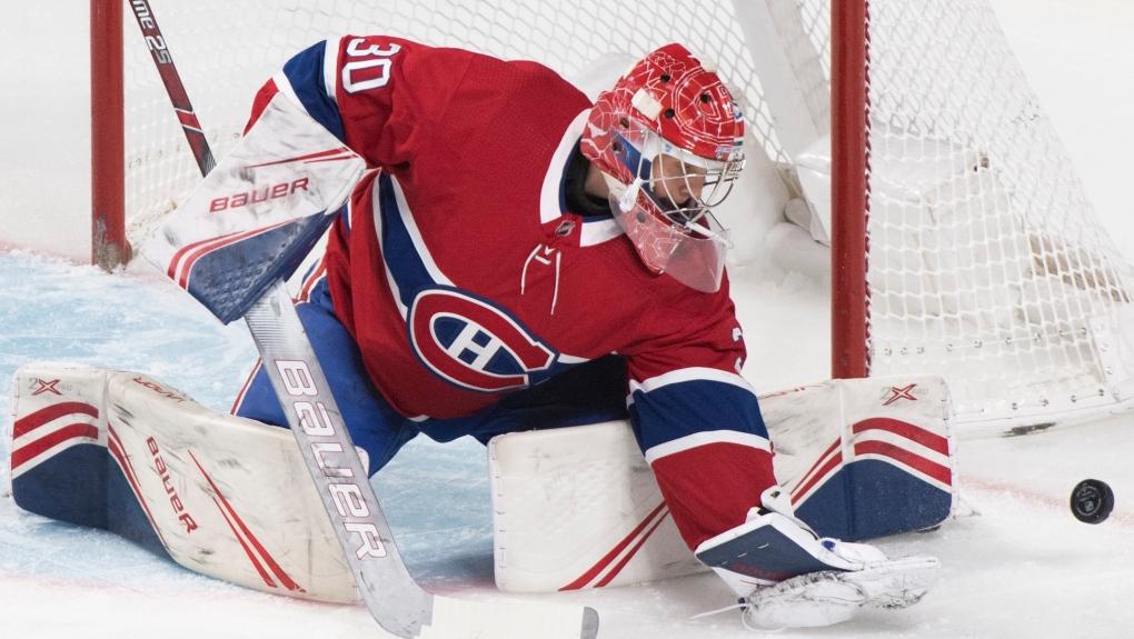 Montreal Canadiens goaltender Cayden Primeau