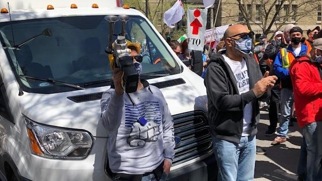 Longshoremen protest in Montreal