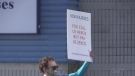 VON nurses in Saria-Lambton walked off the job Saturday morning after their contract demands were not met by their employer (Brent Lale / CTV News)
