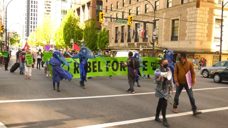 Climate activists shut down intersection