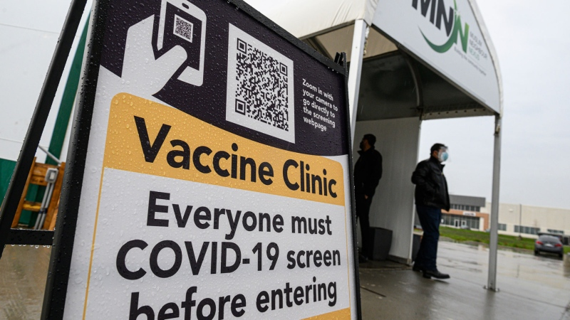 The Muslim Neighbour Nexus Mosque holds a one-day pop-up COVID-19 vaccination clinic in Mississauga, Ont., on Thursday, April 29, 2021. THE CANADIAN PRESS/Christopher Katsarov