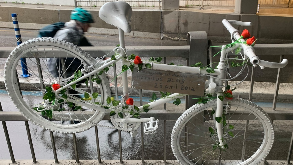 Mathilde Blais' ghost bike is being removed