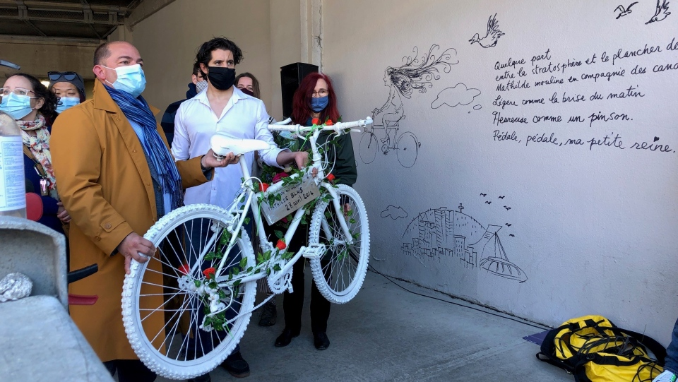 Mathilde Blais' ghost bike is removed