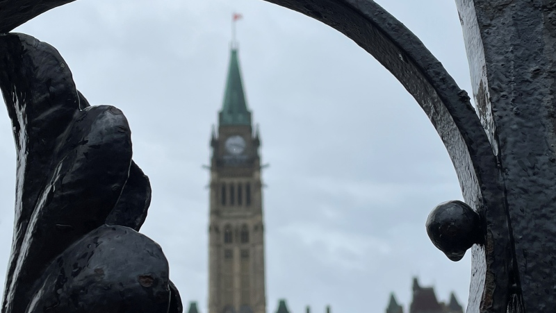 Parliament Hill is seen in this photo taken on April 30, 2021. (Photo by CTV News' Jeff Denesyk)
