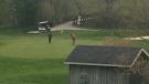 Golfers playing The Bridges at Tillsonburg Sunday