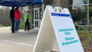 The COVID-19 immunization clinic at the Eva James Memorial Community Centre in Ottawa. (Jackie Perez / CTV News Ottawa)