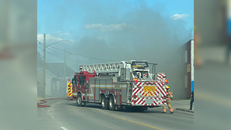 London Fire on scene