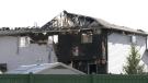 Fire damaged a duplex in Sherwood Park Sunday morning. Sunday May 2, 2021 (CTV News Edmonton)