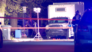 A man was shot in Laval Sunday night. He is recovering in the hospital. (Cosmo Santamaria/CTV News)