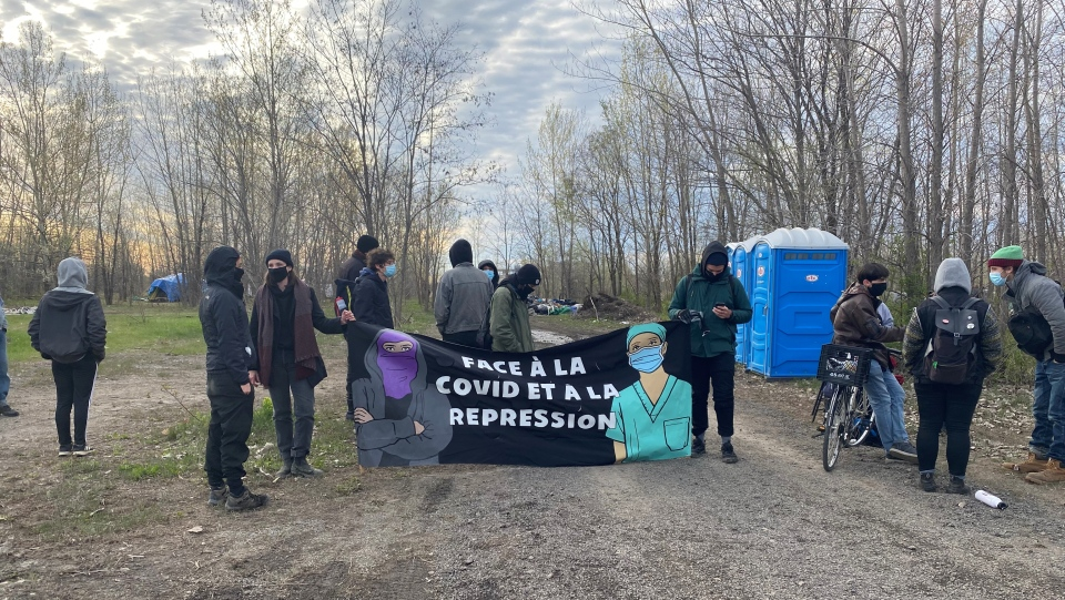 The residents of a 'tent city' in Hochelaga-Maisonneuve insist they will not be forced out of their encampment. (Kelly Greig/CTV News)