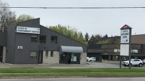 The CMH COVID-19 testing centre (Tyler Calver / CTV News Kitchener)