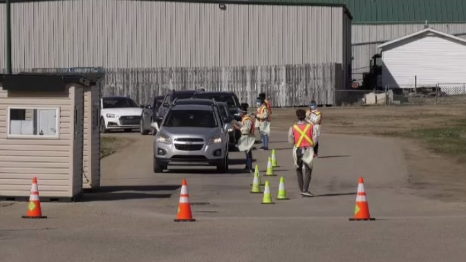 drive-thru vaccine Saskatoon