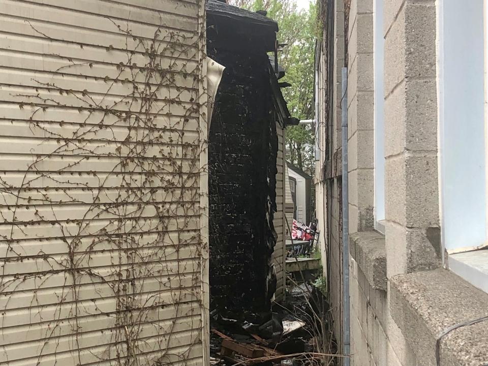 Suspicious fire damage