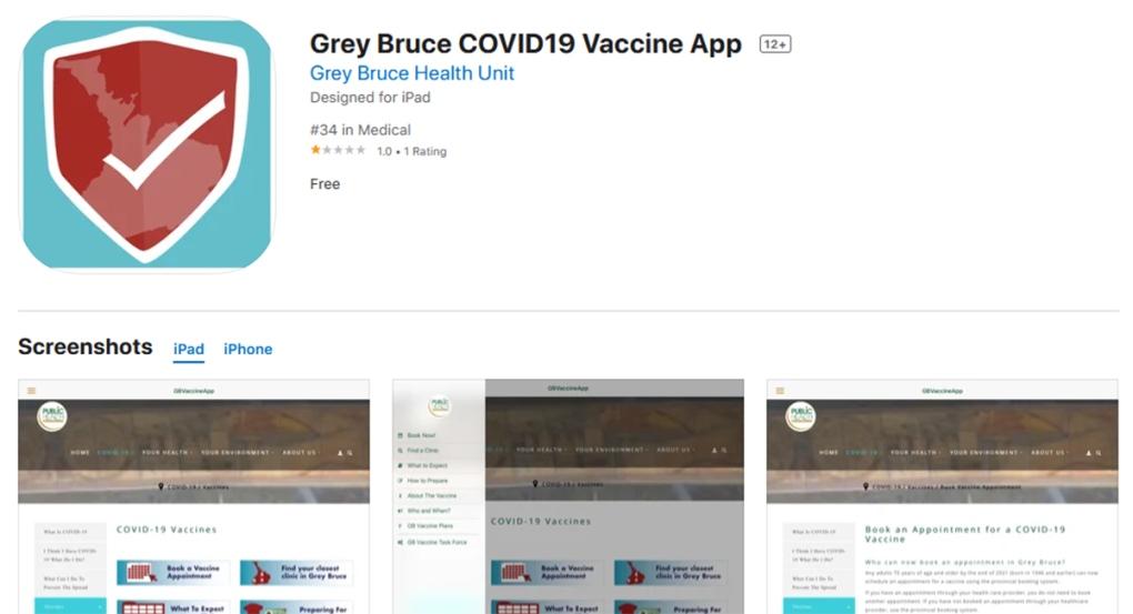 Grey Bruce COVID-19 Vaccine App