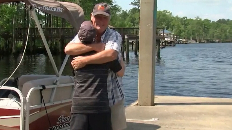 Father and son have heartwarming reunion