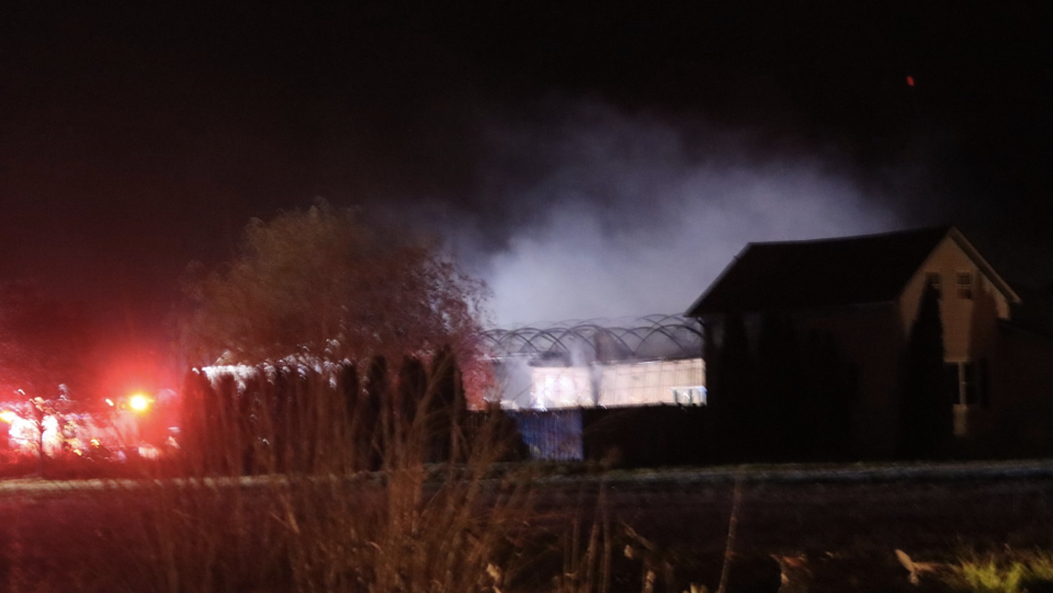 greenhouse fire