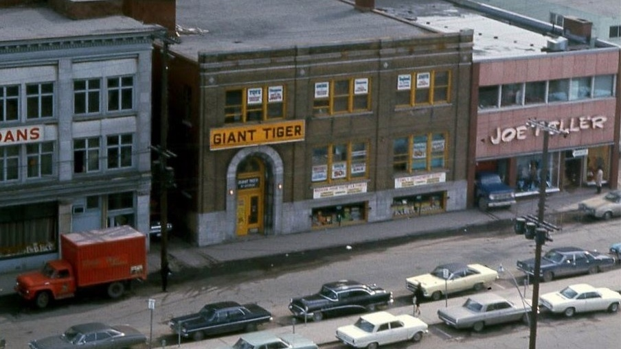 The first Giant Tiger store opened in May 1961 on George Street in Ottawa's ByWard Market. The store is still there today. (Photo courtesy of Giant Tiger)