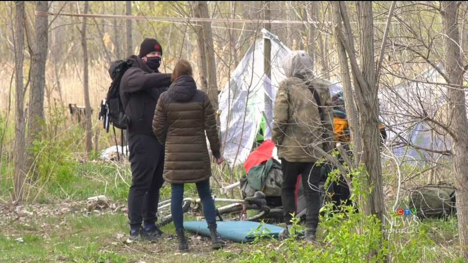 Montreal police dismantle tent city