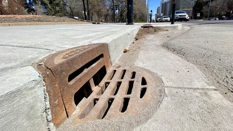 The city is encouraging residents to adopt a drain. (Gareth Dillistone/CTV Regina)