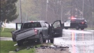 Crash at Nairn Road and Oxbow Drive in Middlesex County on may 3, 2021. (Daryl Newcombe/CTV London)