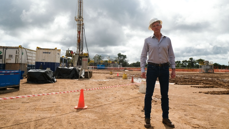 ReconAfrica founder Craig Steinke scoured the planet for the next big oil find. He believes they have possibly found one in the Kavango Basin. (David McKenzie / CNN)