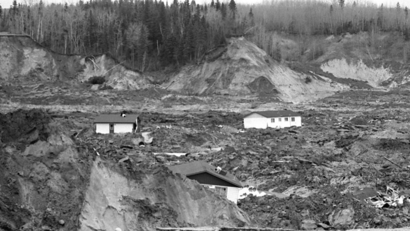 A landslide in Saint-Jean-Vianney on May 4, 1971 killed 31 people and destroyed a community in Quebec. A commemoration of the disaster will take place May 4, 2021. SOURCE: BANQ