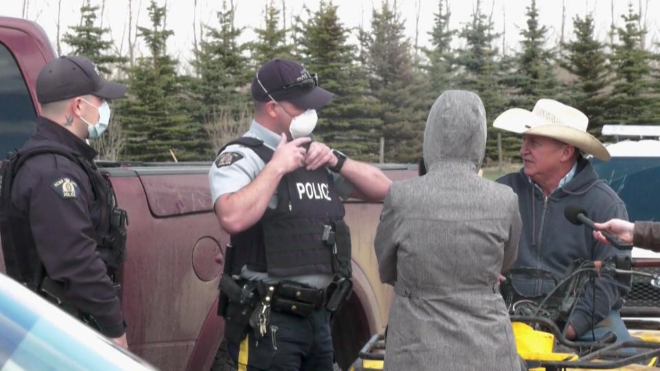 Bowden, rodeo, anti-lockdown, rally, Alberta