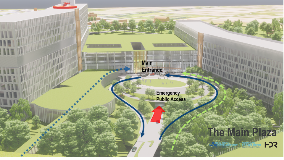 New Civic Campus main entrance