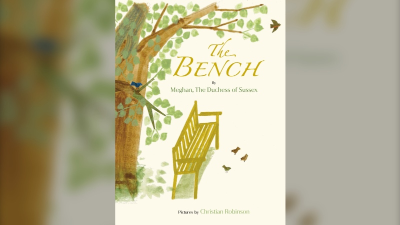 "This image released by Random House Children's Books shows ""The Bench,"" a children's book by Meghan, The Duchess of Sussex, and with pictures by Christian Robinson. The book will publish on June 8. (Random House Children's Books via AP)"