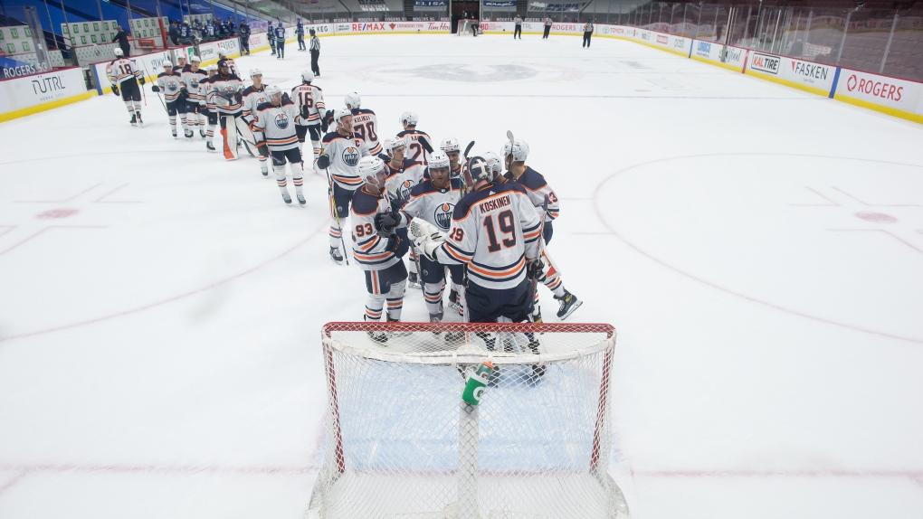 Edmonton Oilers goalie Mikko Koskinen