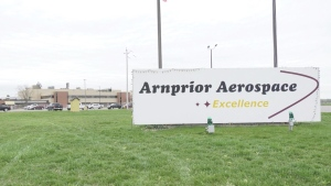 A COVID-19 outbreak was declared at Arnprior Aerospace in Arnprior, Ont. on May 2, 2021. (Dylan Dyson / CTV News Ottawa)
