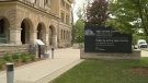 Elgin County courthouse in St. Thomas, Ont. on May 4, 2021. (Brent Lale/CTV London)