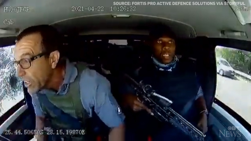 Daschcam footage shows how the driver of an armoured truck reacted during an attempted hijacking on a highway in South Africa.
